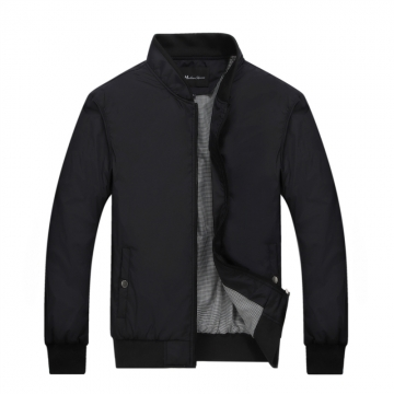 Port&Lotus Men Jacket  Fashion Outdoor Men Coats Solid Men Clothing 049 black L