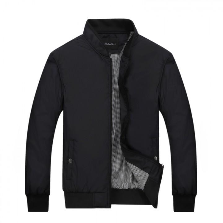Port&Lotus Men Jacket  Fashion Outdoor Men Coats Solid Men Clothing 049 black XL