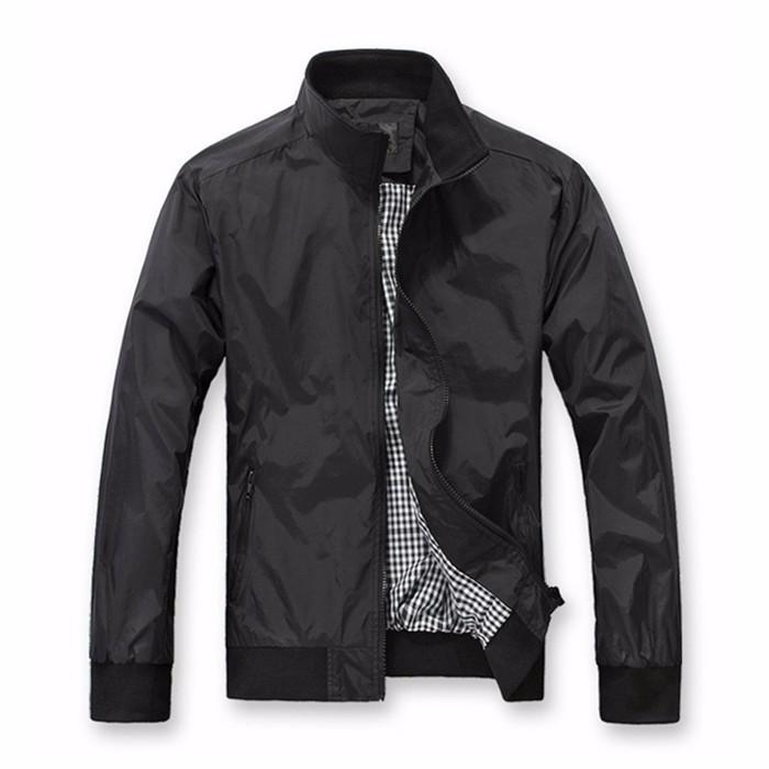 Port&Lotus Men Jacket New Spring Autumn Casual Thin Outdoor Men Coats Solid Fashion 010 Men Clothing black L