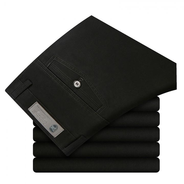 Men Fashion 100% Cotton Pants TS901 Black 30