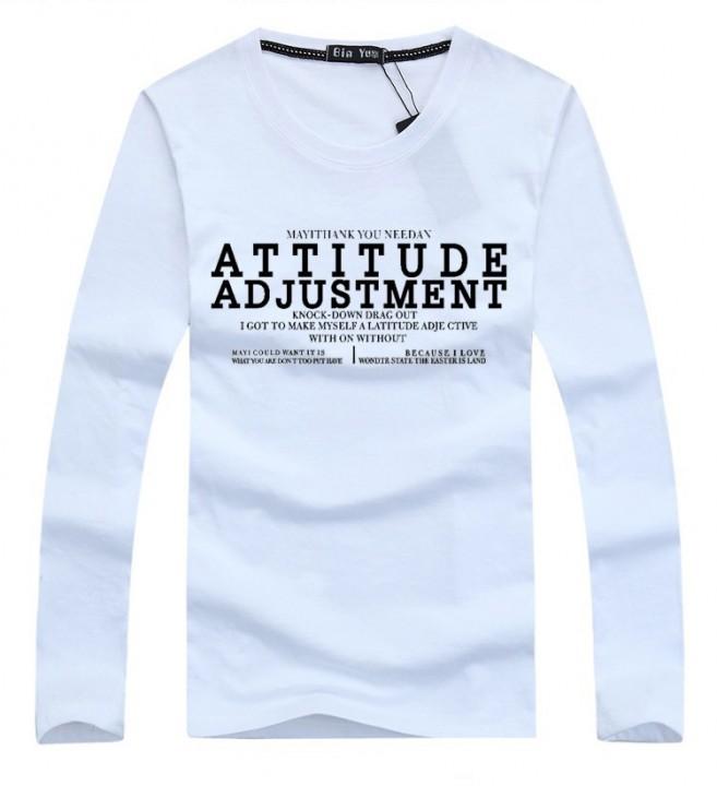 Port&Lotus Men T Shirt Fashion Cotton Long Sleeve English Letter Slim Fit Fitness Men Clothes 165 gray M