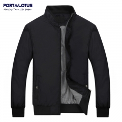 Solid Color Thin Men Jackets 049 black L