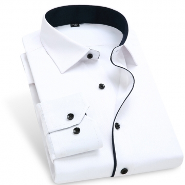 Color Contrasted Men Dress Shirts AM702 AM702 XL