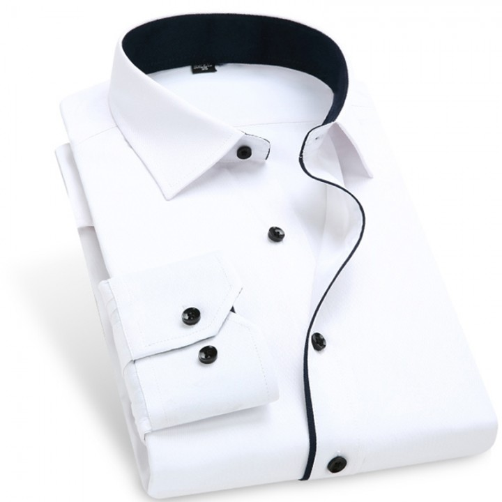 Color Contrasted Men Dress Shirts AM702 AM702 XXL