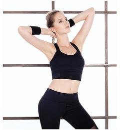 Shockproof sports underwear, women's quick dry, no steel ring vest, fitness bra, bra, bra. s black