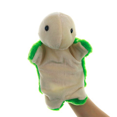 Hand puppet plush toy animal shape turtle doll green 25cm