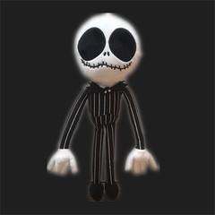 Pumpkin King Jack spoof plush doll black 40cm