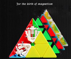 Three order magic cube toys magic cube 9.9cm