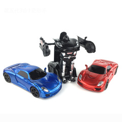 Voice controlled induction remote car Transformers racing model robo red 32cm