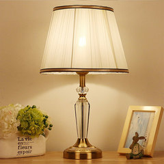 Bedside bedroom hotel stylish crystal table lamp