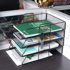 Stacked multi-layer storage bookshelf black