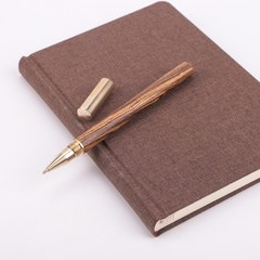 Brass sandalwood ball pen business metal pen Black and ebony