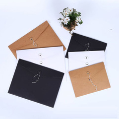 Kraft paper bag custom blank A4 horizontal file bag line buckle data products yellow A4 horizontal version