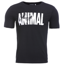 Cross-border for ANIMAL man sports fitness T-shirt stretch sports short sleeves black m other