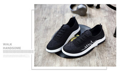 Breathable sports shoes black 39