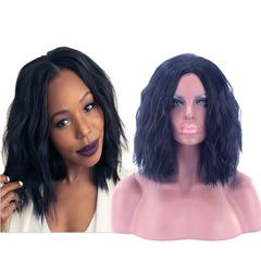 African models European and American black ladies big wave wig corn must Light Brown one size