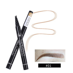 Four liquid eyebrow pencil, extremely fine, waterproof, durable, four-forked eyebrow pencil 1#