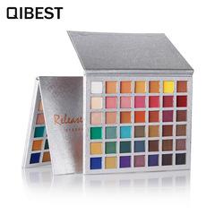 QIBEST42 color eyeshadow glitter eye shadow disc high gloss matte lazy eyeshadow Photo Color