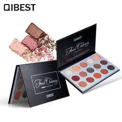 QIBEST Qiyue Poetry Renaissance 15 Color Eyeshadow Palette Sunset Eyeshadow Palette 01#