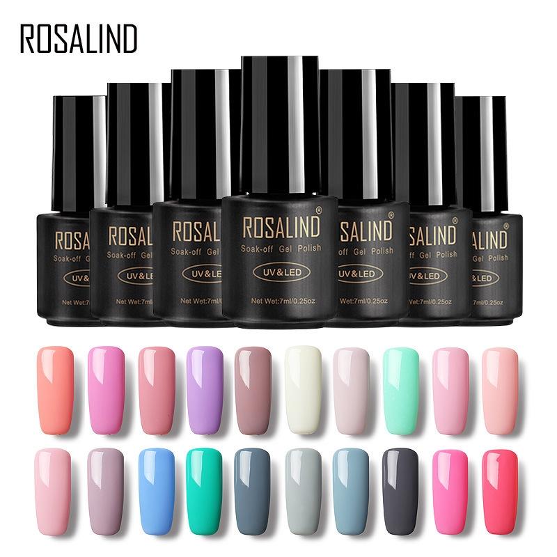 ROSALIND nail polish nail polish Nail Gel solid color 58 color no ...