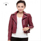 2018 new autumn short paragraph Slim motorcycle jacket women tide leather jacket Red wine m