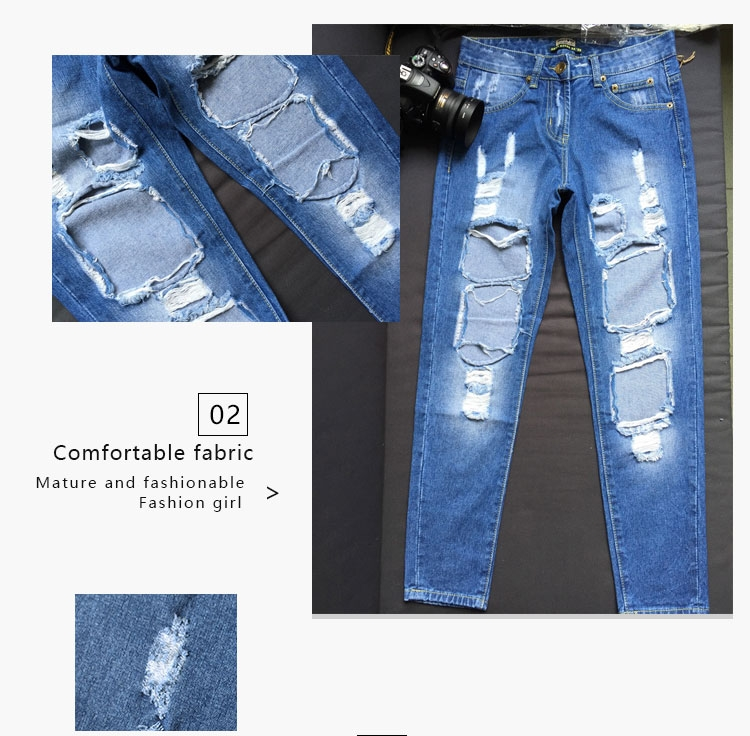 be98a46e5df Baggy jeans for women's wear in autumn deep blue 28(m) @ Kilimall Kenya
