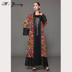 New moccasa prints with a stylishly patterned cardigan dress women black m