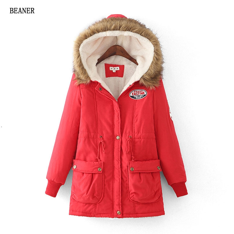 8f9dcbdcc05 Winter thick warm jacket large size hooded long cashmere DrawString waist  collar wool coat female Big Red m  Product No  1524619. Item specifics   Brand