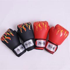 Flame Boxing Gloves Sanda Adult Children Fight Muay Thai Boxing Sanda Training Gloves black
