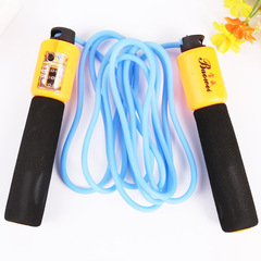 Creative rubber sponge jump rope adult plastic pvc fitness equipment bule 3m
