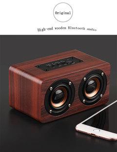 W5 explosion models wooden home Bluetooth speaker wireless Bluetooth audio Red wood grain