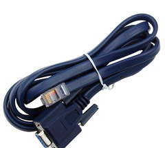 RJ45 TO RS232 blue flat cable to serial cable DB9F/8P8C 1.5 m adapter cable black