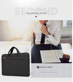 Custom LOGO Qingxi laptop bag notebook bag liner bag Apple millet Dell shoulder bag black 14 inches