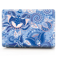 MacBook Apple Notebook Case 13air/15pro Computer Case Indian ham pattern - purple blue 11 inches air