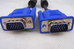 1.5 m VGA cable 3+5 15 pin male to male computer cable shield magnetic ring blue head Blue head 1.5m