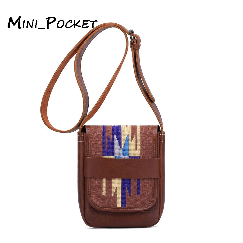 1aafe09221d4 New leather suede leather crossbody bag national wind embroidery ...