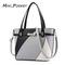 2018 women's bag European and American fashion handbag big bag shoulder Messenger bag black average