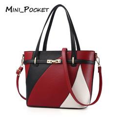 2018 women's bag European and American fashion handbag big bag shoulder Messenger bag red average