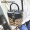 Fashion handbags Korean version of the leopard rivet box handbags stereotype shoulder Messenger bag Tiger pattern average