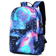 Little Star Star Backpack Schoolbags Oxford Cloth Shoulder Bag Oxford Cloth Men's Game Backpack black average