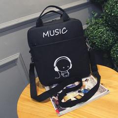 2018 new luminous bag student bag waterproof handbag printing multi-function backpack black average