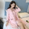 Ladies' autumn and winter pajamas plus size home service two-piece elegant and sexy Korean version pink l
