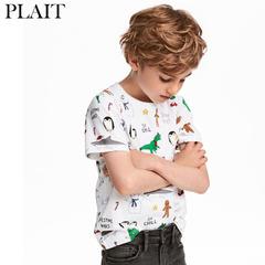 Summer new cotton children's t-shirt boy short-sleeved cartoon shirt children's t-shirt Photo Color 7T Cotton