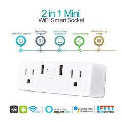 Voice smart socket white