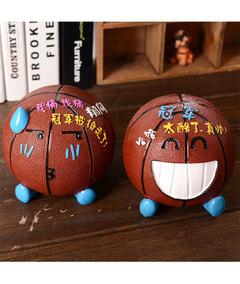 Basketball resin piggy bank SF21 creative expression photo color