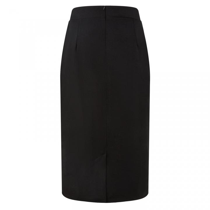 2018 spring and summer halter skirt splicing new pencil skirt black s