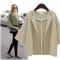 2018 autumn new lapel cropped sleeves jacket loose thin cardigan women short jacket 8 khaki xl