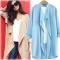2018 autumn new loose windbreaker jacket long paragraph wild cardigan sunscreen gown 9 sky blue xl