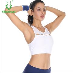 Beauty back sports bra shockproof running bra full cup yoga underwear white XL