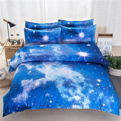 Home Textile Nebula Sky Four-piece Quilt Cover Bedding Explosion 3D 200*230 four piece suit